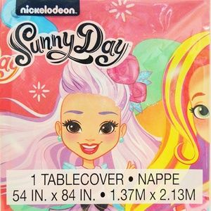 Sunny Day Girls Birthday Party Plastic Tablecover
